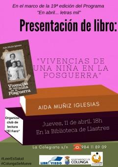 Presentaciones literarias jueves 11 y viernes 12 de abril en Colunga