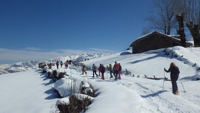Raquetas de nieve en el corazón de los Picos de Europa
