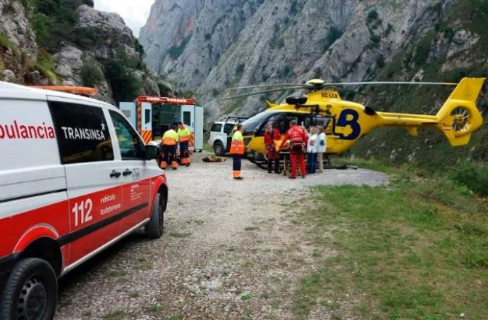Accidente de montaña en Tielve, Cabrales