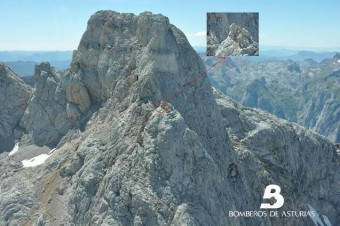 Rescate de montaña en el Picu Sain Saud