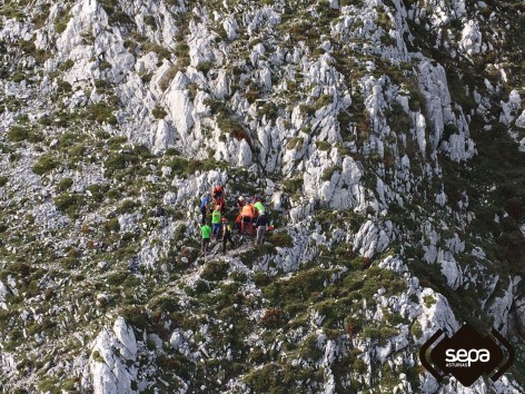 Rescate de montaña en Peñamellera