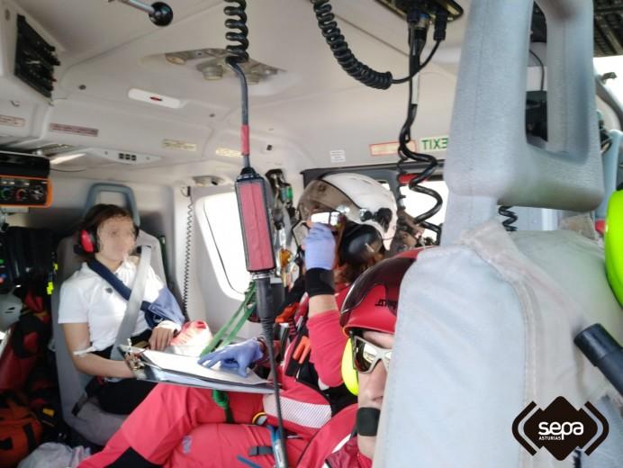 Rescate de persona en Soto del Barco