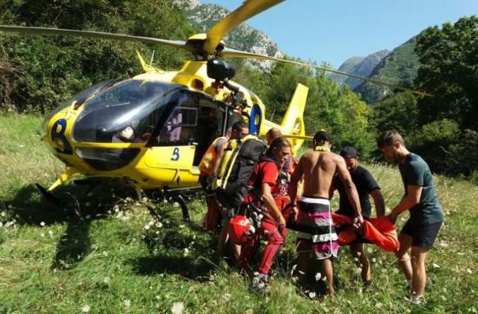 Rescates fluviales en Amieva y Cabrales