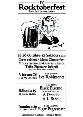 Rocktoberfest IV: Fiesta de la Cerveza Artesana de la A. C. Vidiago Rock en Llanes