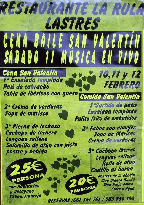 Cena-Baile de San Valentín en Restaurante La Rula
