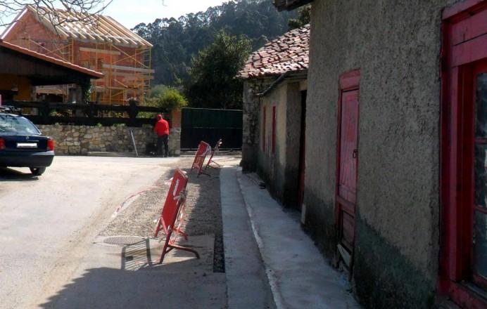 Recta final ampliación red saneamiento de Villahormes