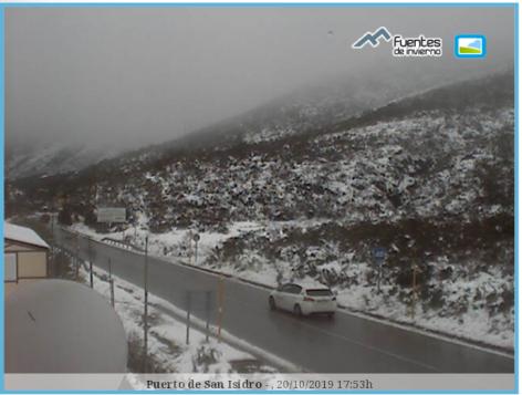 Llegan las primeras nieves de la temporada a Asturias