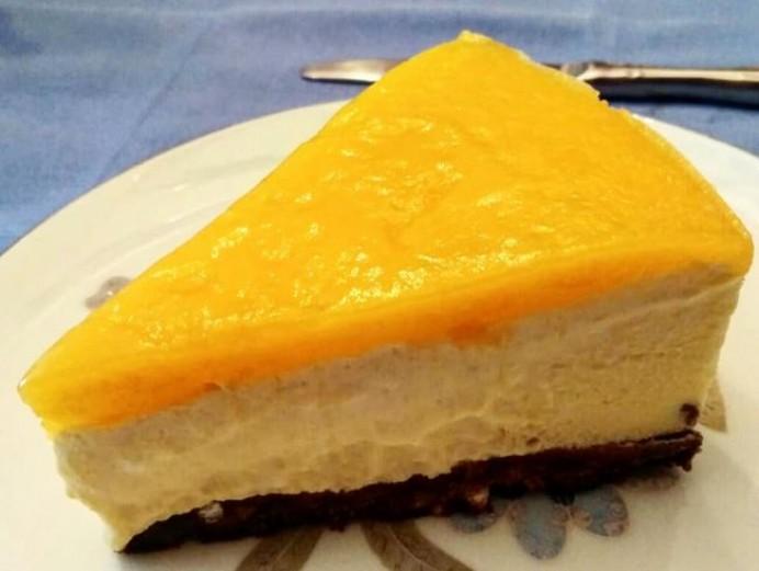 Semifrío de mango con yogur
