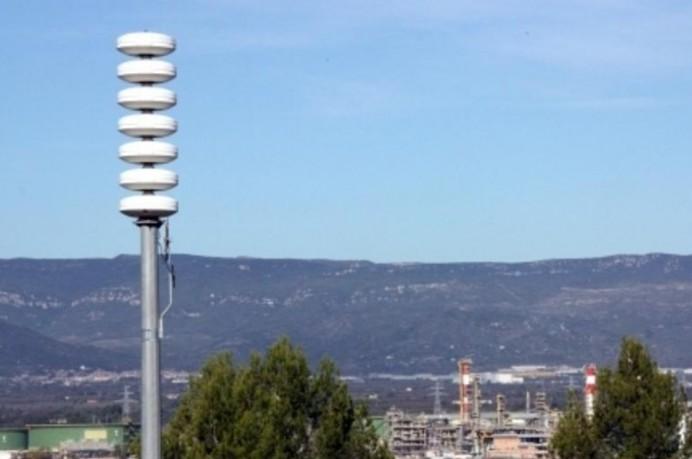 Pruebas de sonido del sistema acústico de aviso a la población en Asturias