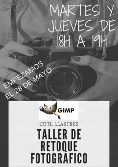 Taller de retoque fotográfico con GIMP en Llastres