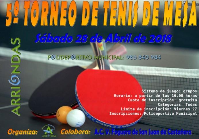 5º Torneo de Tenis de Mesa Arriondas