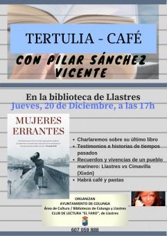 Tertulia - café con Pilar Sánchez Vicente, en Llastres