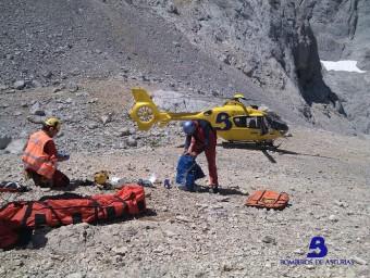 Rescate de montaña en Torrecerredo
