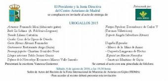 Entrega de los Urogallos 2015 del Centro Asturiano de Madrid