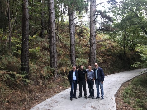Parres repara caminos en El Ceñal y La Valleya, en Bode