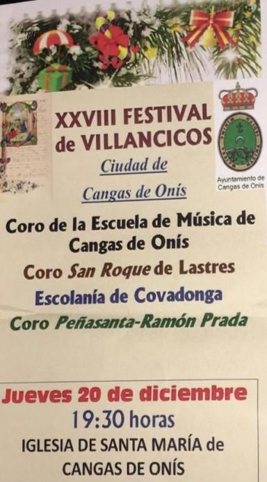 XXXVIII Festival de Villancicos Ciudad de Cangas de Onís